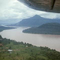 Aerial view of Mekong River