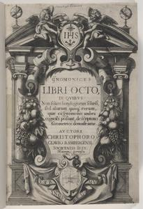 Engraved title page of gnomonices