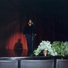 Ingrid Smith sings at the 2005 American Multicultural Student Leadership Conference