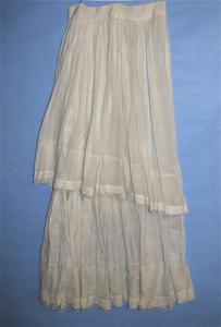 Cream colored petticoat