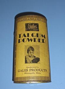 Gales talcum powder