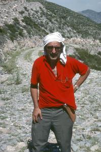 H.H. Iltis on Cerro Microondas Saporis, near Torreón