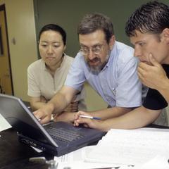 Dr. Michael Waxman teaching chemistry