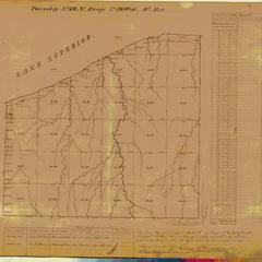 [Public Land Survey System map: Wisconsin Township 49 North, Range 10 West]