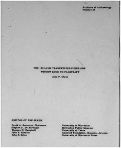 The 1959-1960 Transwestern Pipeline, Window Rock to Flagstaff
