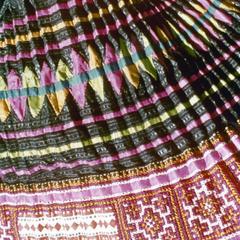Blue Hmong (Blue Njua) skirt in Houa Khong Province