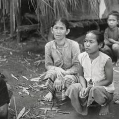 Villagers from Meun Hua Meung flee as refugees to the village of Nam Ho in Attapu Province
