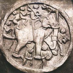 Elephant and monkeys