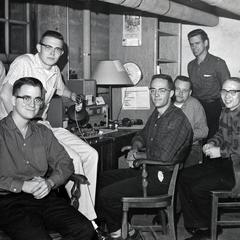 Students in Radio Hall