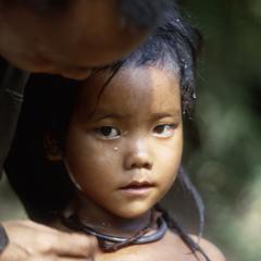 Drying off Hmong girl