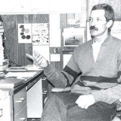 CLSES researcher, Larry Heinis, in his office