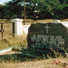 Epitaph to Namibian Martyrs of 1959 at the Old Location