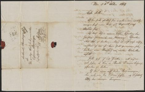 [Letter from Ludwig Sternberger to his mother, Johanna Sternberger, February 10, 1849]