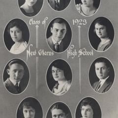 1923 New Glarus High School graduating class