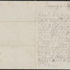 [Letter from Agnes Sternberger to her sisters, Hannah and Julie Sternberger]