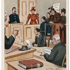 I protest against man-made laws, suffrage postcard