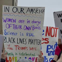 In Our America, Women Are in Charge of Their Own Bodies, Science is Real, Black Lives Matter, Love Trumps Hate, Diversity is Celebrated. Love is Love