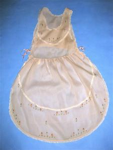 Pink organdy full length apron