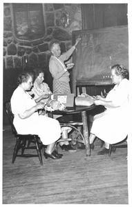 Helen Louise Allen's mother teaching