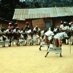 Dance of Women's Auxiliary of the PDG (Gabonese Democratic Party) at a Local Meeting