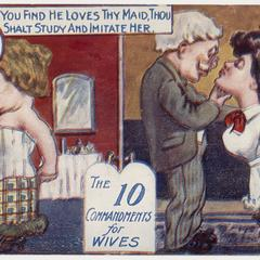 'If you find he loves thy maid' postcard