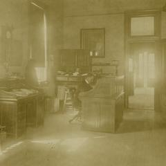 Zalmon G. Simmons' secretary inside his office