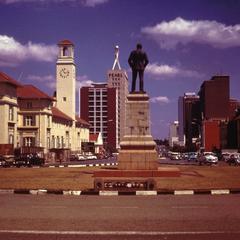 Statue of Rhodes in Salisbury (Harare)