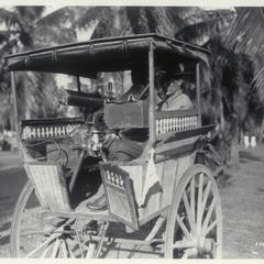 Machine gun on a carretela, 1931