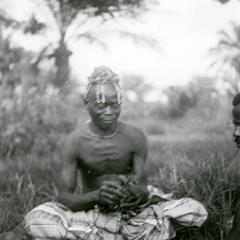 Kuba-Bushong Diviner, Ngwom, at Work
