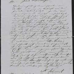 [Letter from Anton Klenert to Jakob Sternberger, November 19, 1853]