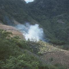 Burning of fields, slope under Ixmal