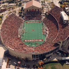 Aerial view of stadium and Fieldhouse