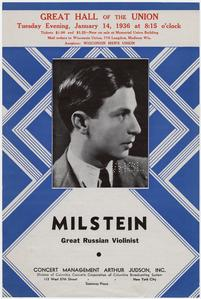 'Great Russian violinist' concert poster