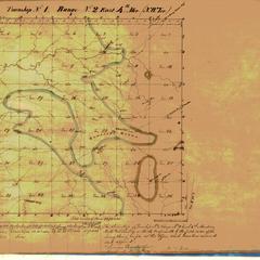 [Public Land Survey System map: Wisconsin Township 01 North, Range 02 East]