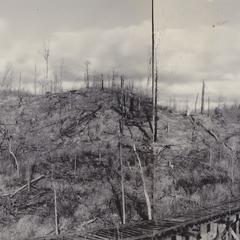 Kettle spanned by railroad trestle