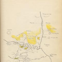 """Sketch map of Flying U hunting grounds"" (drawn by AL), Gila trip, November 1927"
