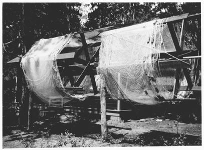 Fish gear drying at Trout Lake