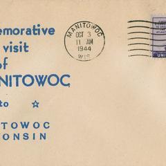 Commemorative cachet envelope for U.S.S. Manitowoc visit