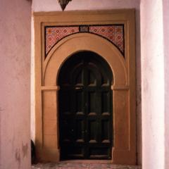 Turkish-Style Door and Lamp at Side Entrance to Serai al-Hamra