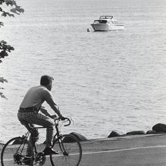 Bicycling along Lake Mendota