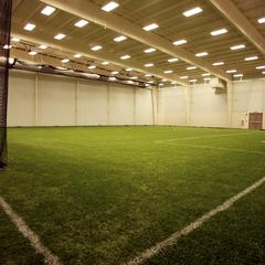 Indoor soccer field at the Kress Events Center