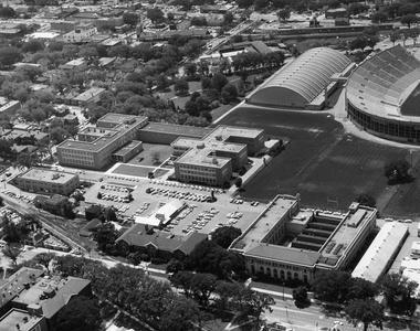 Aerial view of Engineering building