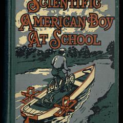 The scientific American boy at school