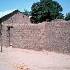 Typical Decorations on Mud Brick House in Kanuri Village