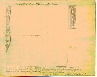 [Public Land Survey System map: Wisconsin Township 12 North, Range 23 East]
