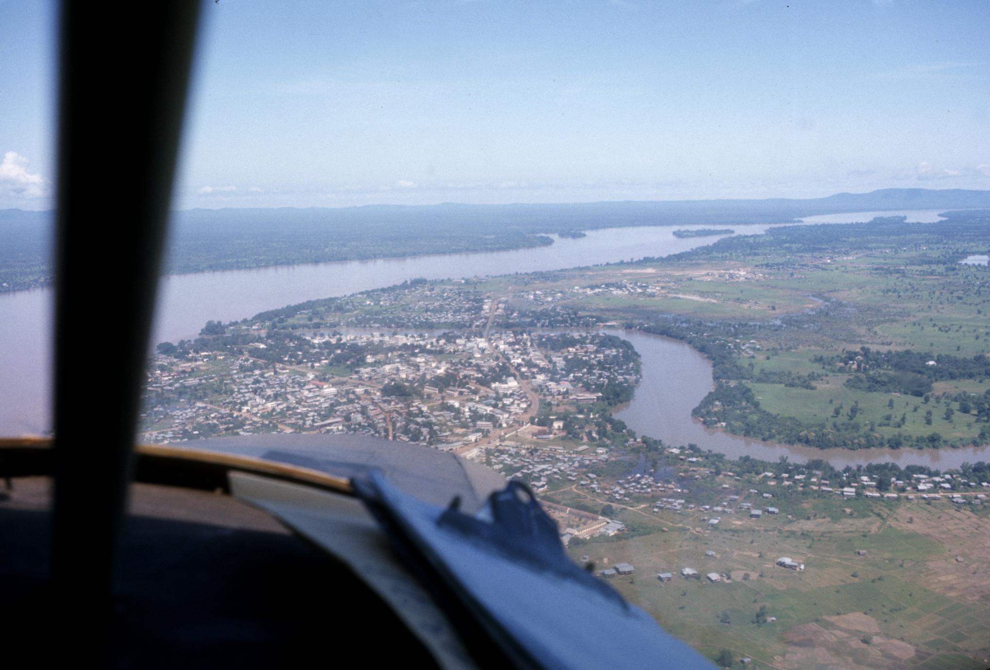 Aerial view of Pakse