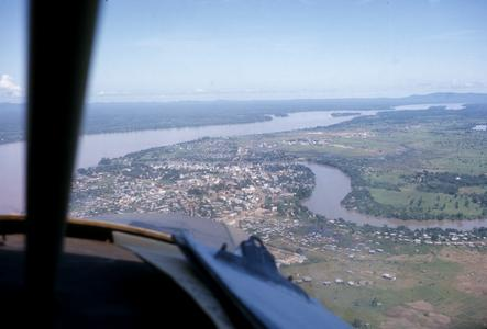 Aerial view of Pakse