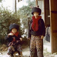 Two Yao (Iu Mien) women at their home near Chiang Mai, Thailand