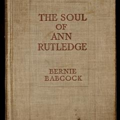 The soul of Ann Rutledge : Abraham Lincoln's romance
