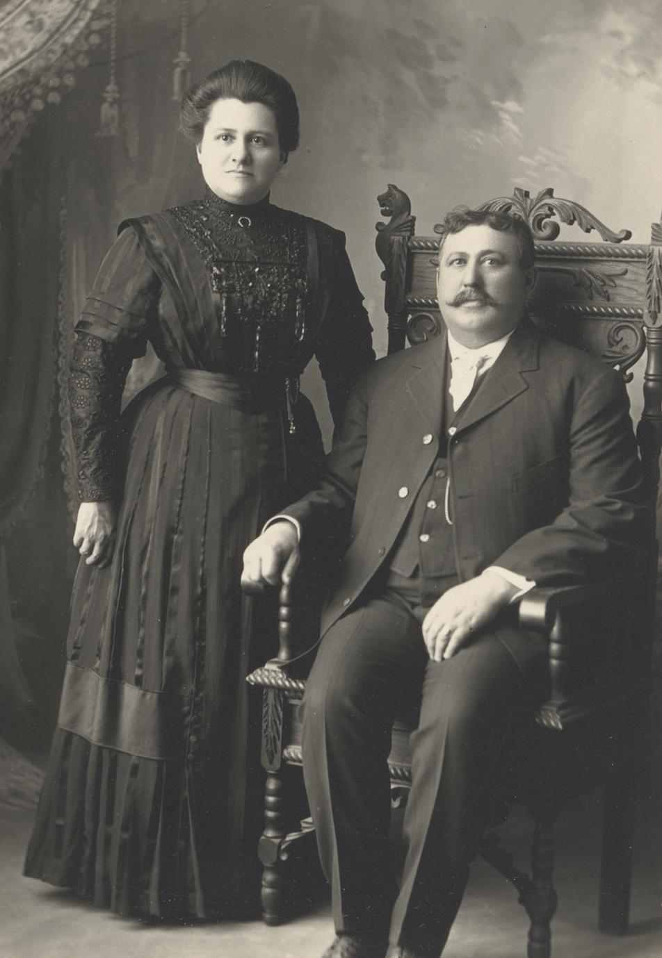 Fannie Streiff Figi and husband